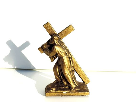 French Vintage Metal Figurine Of Jesus by FrenchReligiousFinds, $28.00