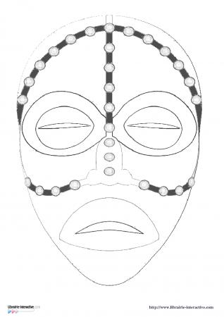 Librairie interactive masques africains masques - Dessin de masque africain ...