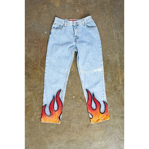 Forever21 Repurposed Levis Flame Pant ( 78) ❤ liked on Polyvore featuring  forever 21 125c3276c33d