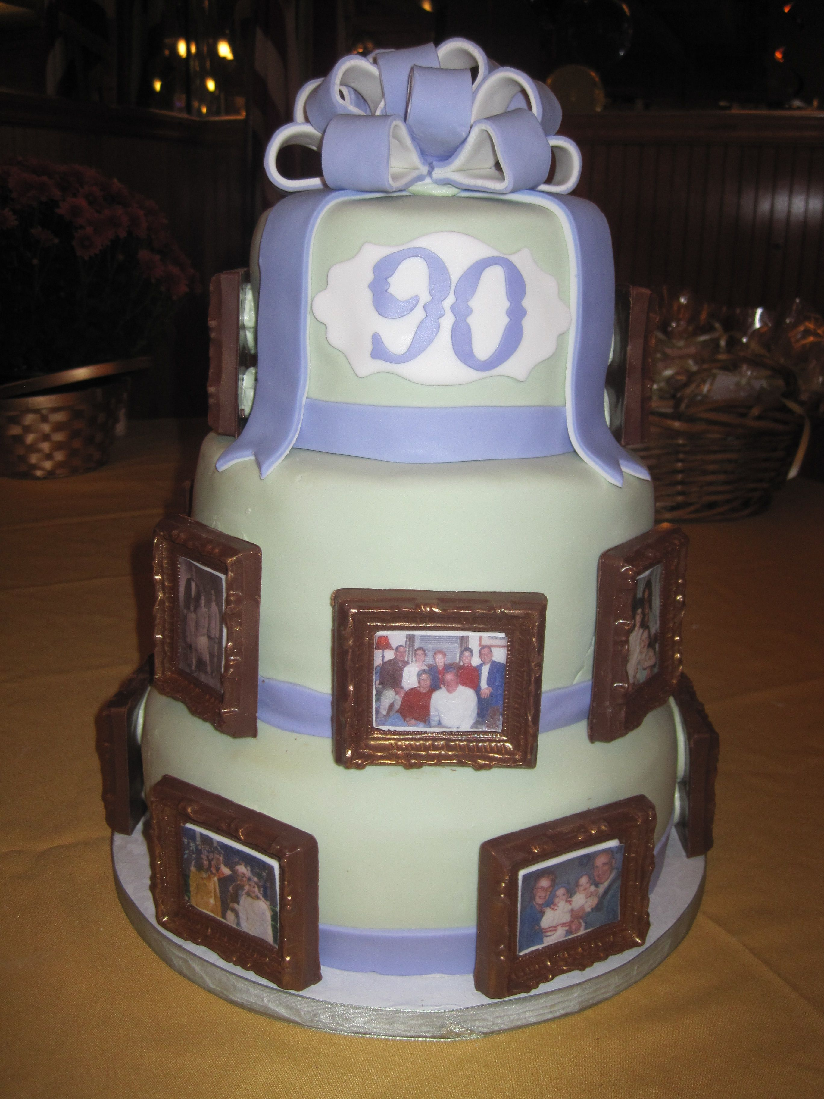 90th Birthday Cake very feminine version but like the idea of