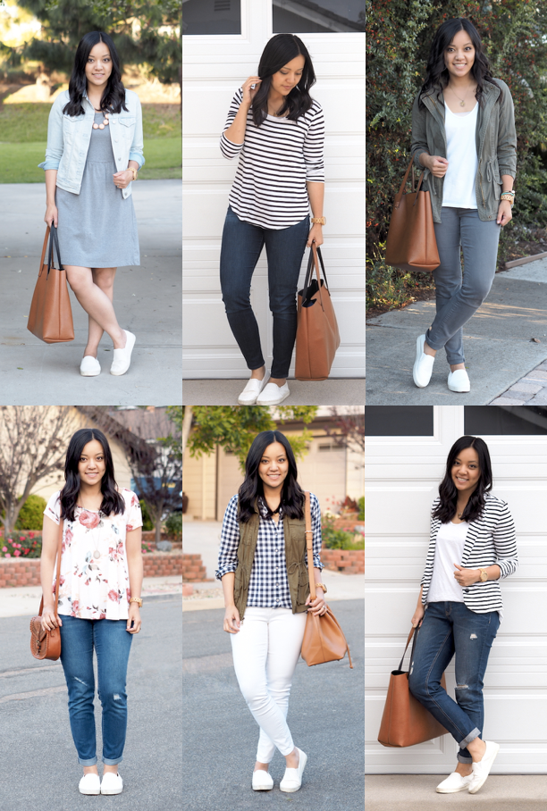 Ways to Wear White Slip,On Sneakers (Putting Me Together