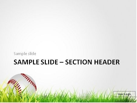 Download Free Baseball In The Grass Powerpoint Template