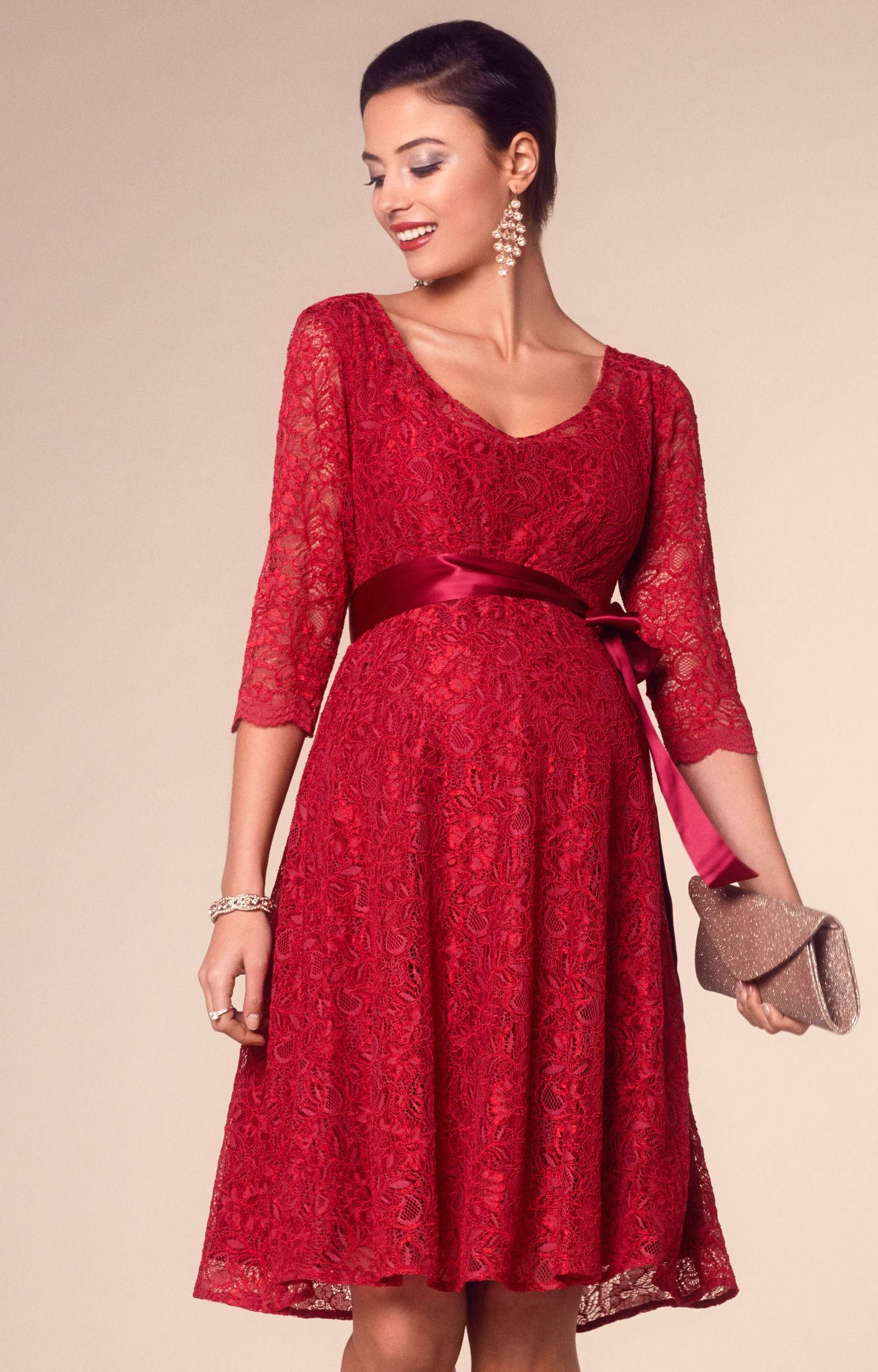 Freya dress short tiffany rose and scarlet our best selling freya lace maternity party dress in a fabulous new scarlet colourway just perfect for the festive season ombrellifo Choice Image