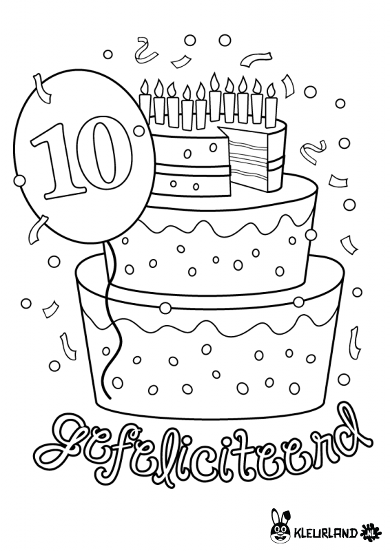 Verjaardagstaart 10 Jaar Kleurplaten Pinterest Class Birthdays