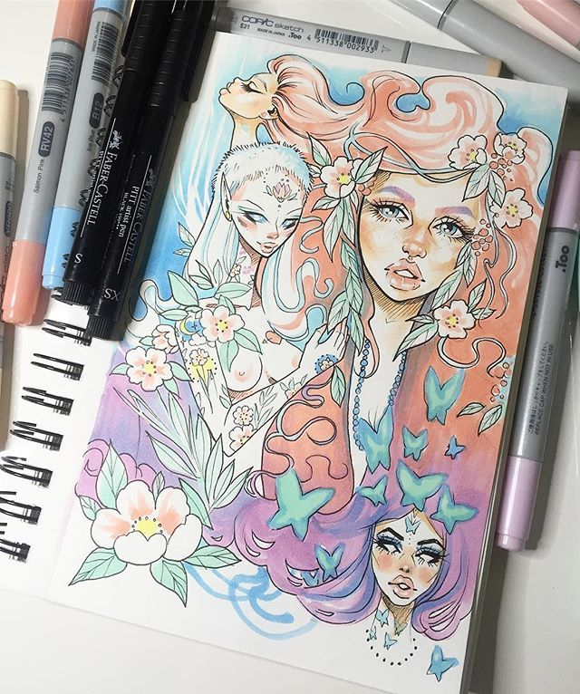 My Little Sketchbook Is Filling Up Fast! I Think Iu0026#39;ll Do A Sketchbook Tour For YouTube Soon ...