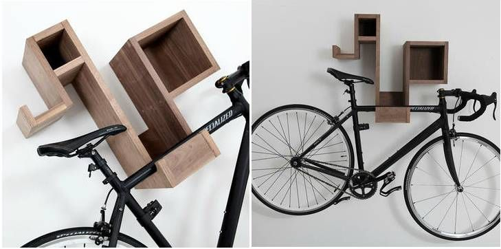 10 Ways To Hang Your Bike On The Wall Like A Work Of Art Bike Wall Mount Bicycle Wall Mount Interior Design Shows