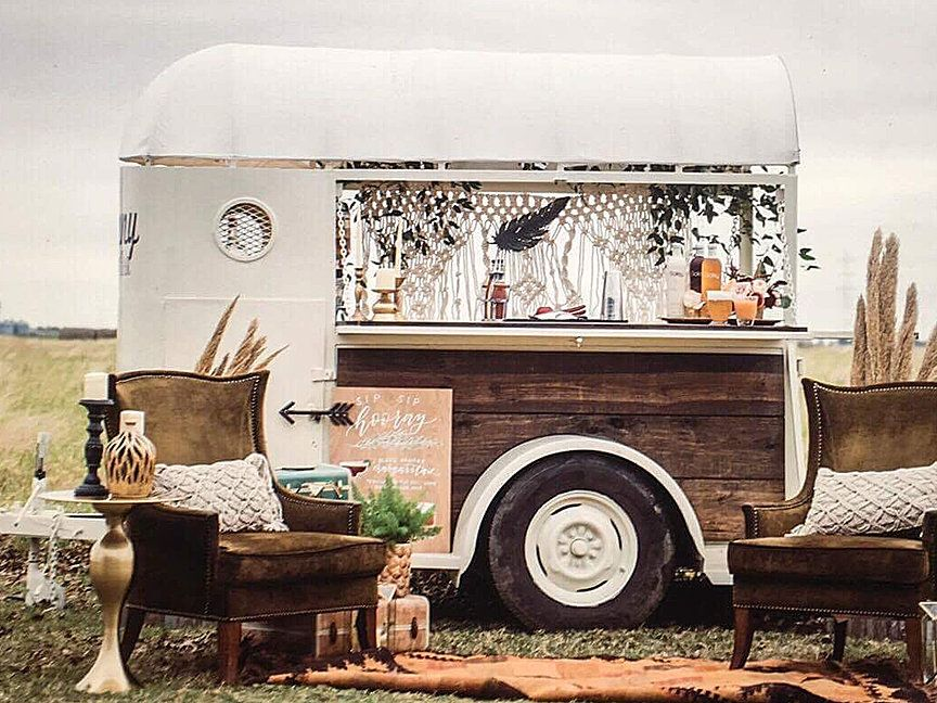 Converted Horse Trailer Into Mobile Bar for Hire in Texas