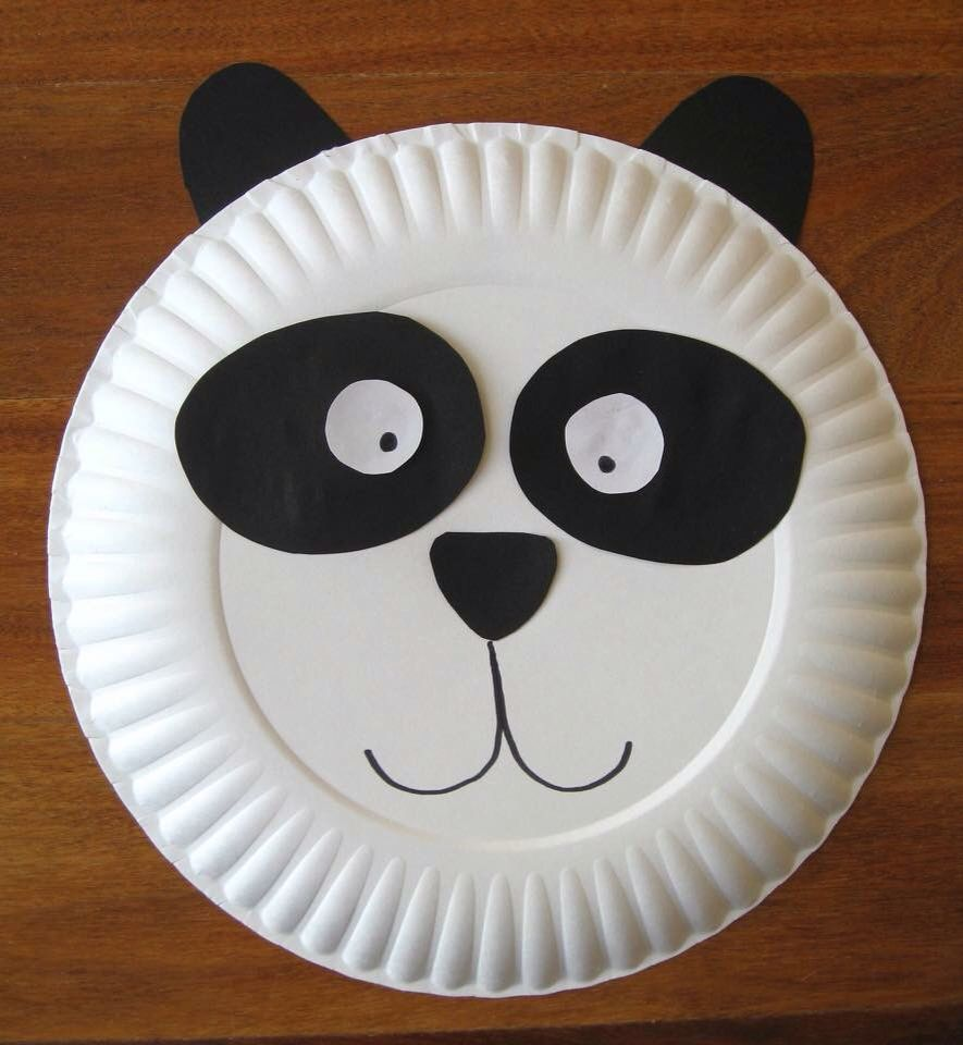 Panda & Pin by Adelyn Koh on Paper Plate Craft Ideas for Toddlers ...