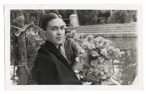 Photographer unknown, Frida on a boat ride in the canal gardens of Xochimilco, n.d. Vicente Wolf