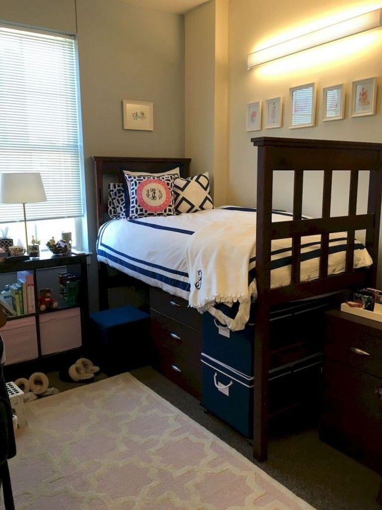 40 Creative Diy Dorm Room Storage Design Ideas Diyhomedecor Storagedesign Storageideas Dorm Room Diy Cool Dorm Rooms Dorm Room Storage