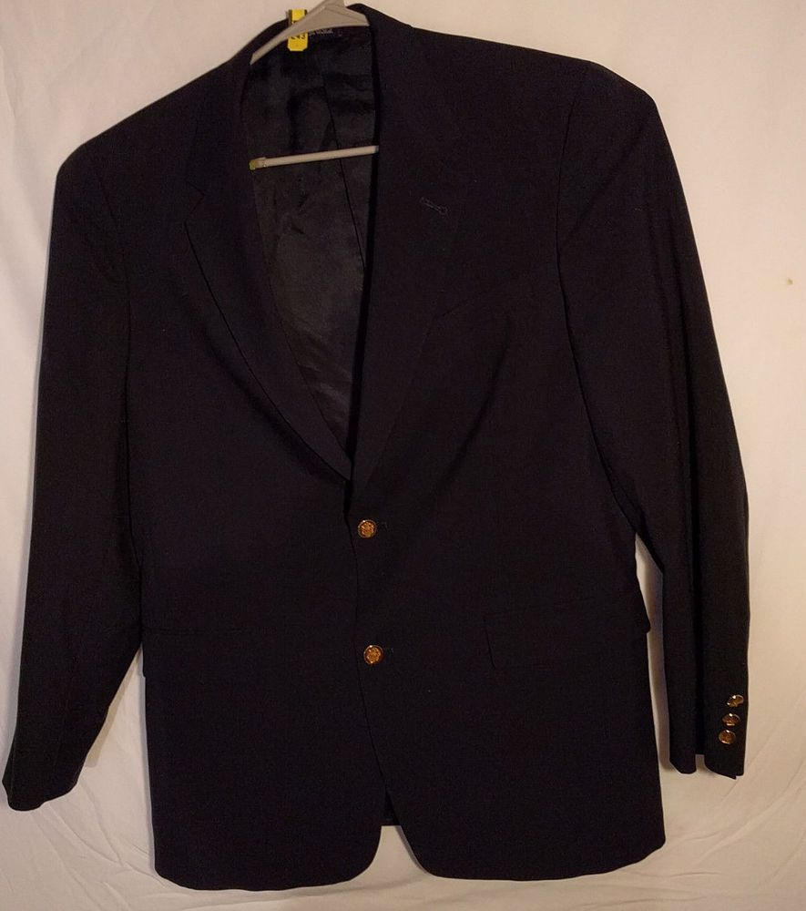 Austin Reed London Men S Black Gold Button Blazer 42l 100 New Wool Usa Made Fashion Clothing Shoes Accessories Menscl Suits Suit Separates Blaze