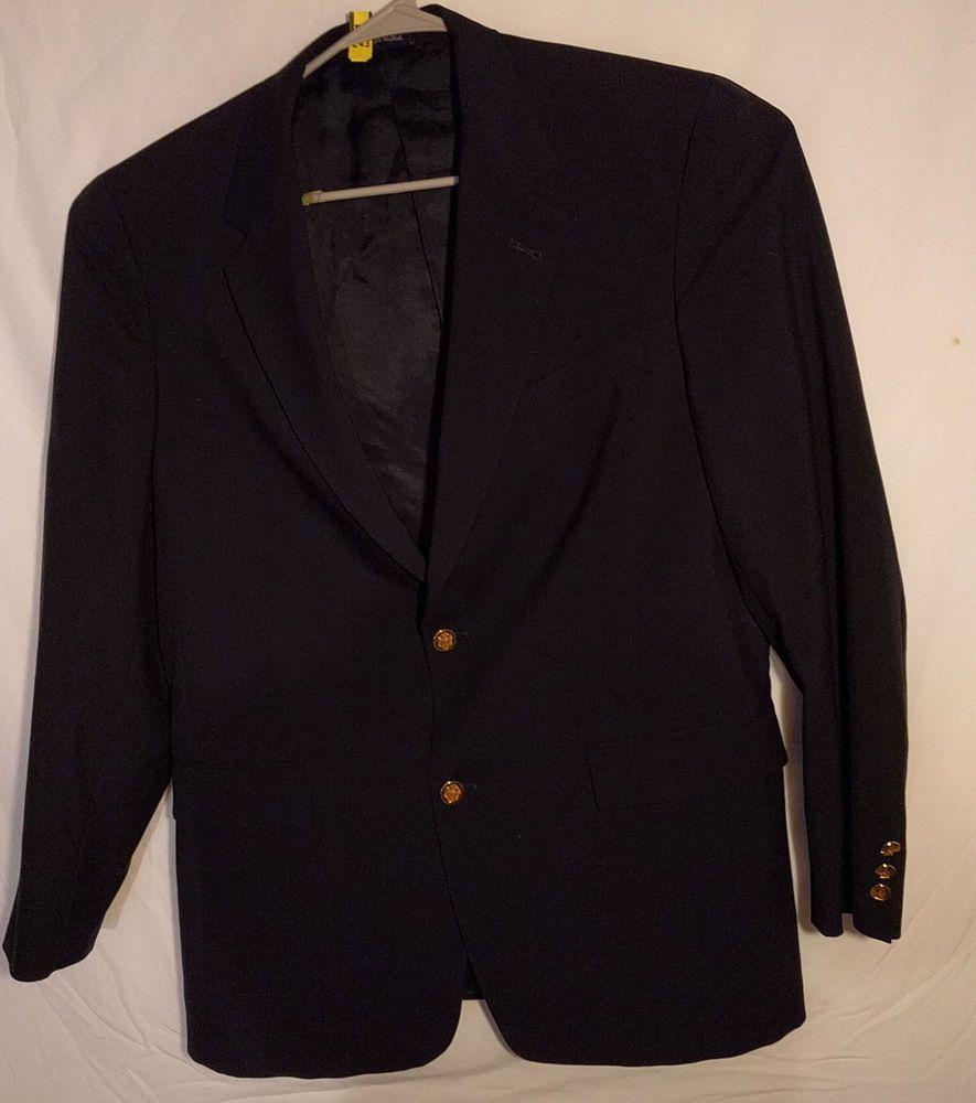 Austin Reed London Men S Black Gold Button Blazer 42l 100 New Wool Usa Made Fashion Clothing Shoes Accessories Menscl Suits Suit Separates Blaze