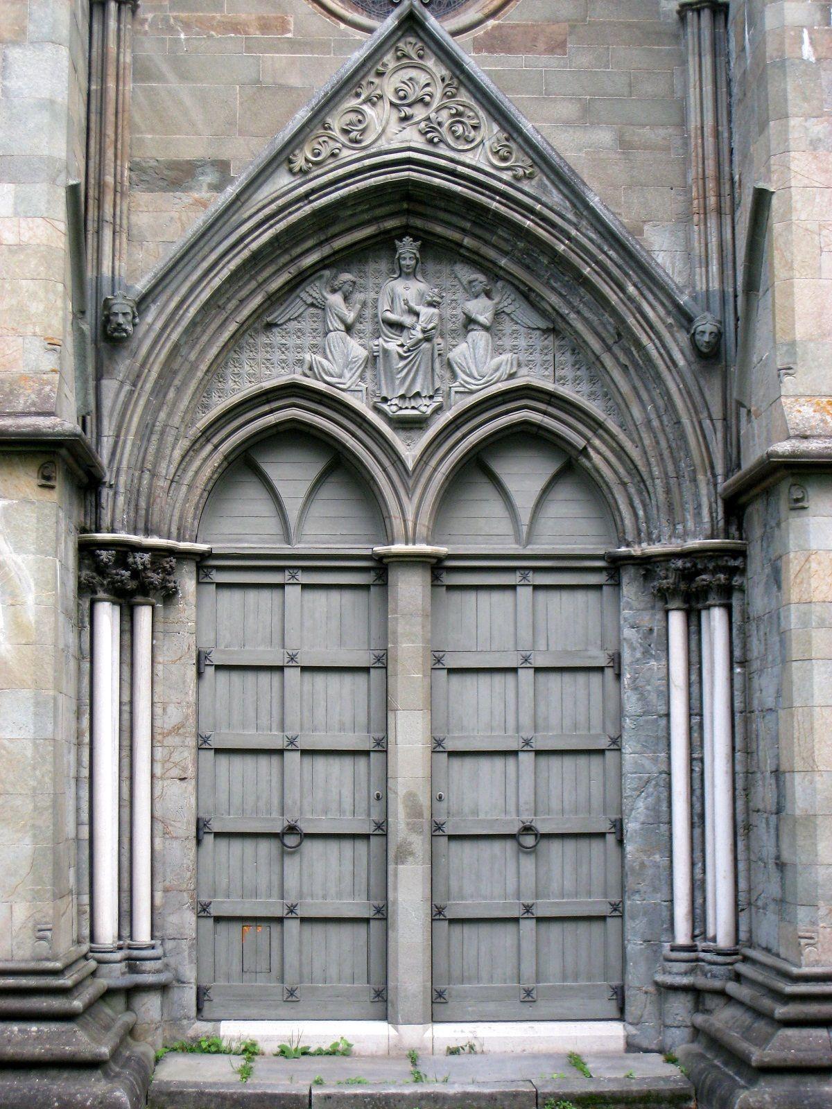 Door at Nidaros Cathedral in Trondheim Norway - Founded c. 1070 & Door at Nidaros Cathedral in Trondheim Norway - Founded c. 1070 ...