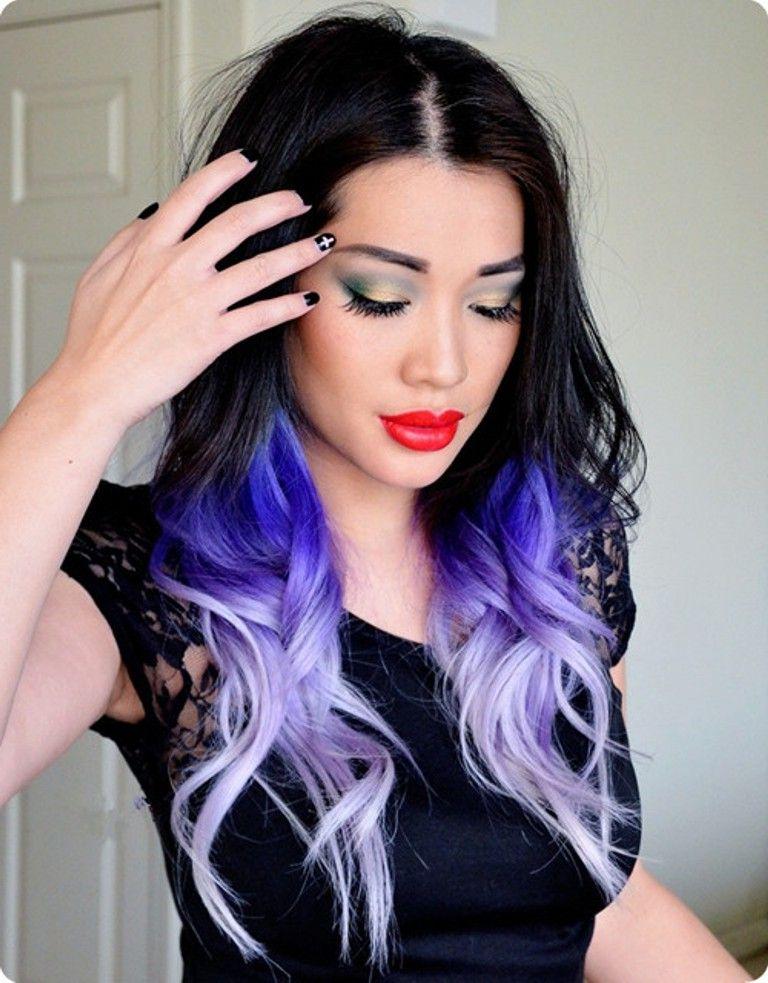 cool brown purple hair black