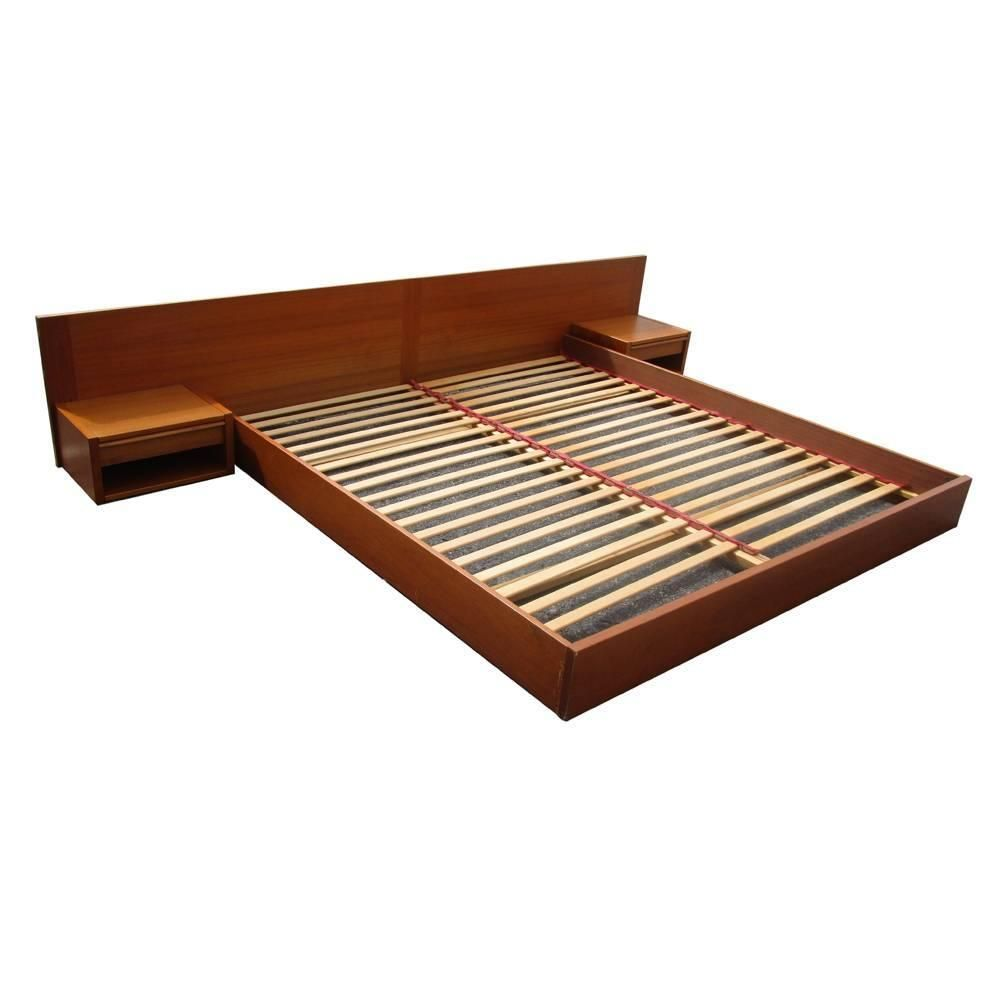 Best Danish King Size Vintage Midcentury Platform Bed From A 400 x 300