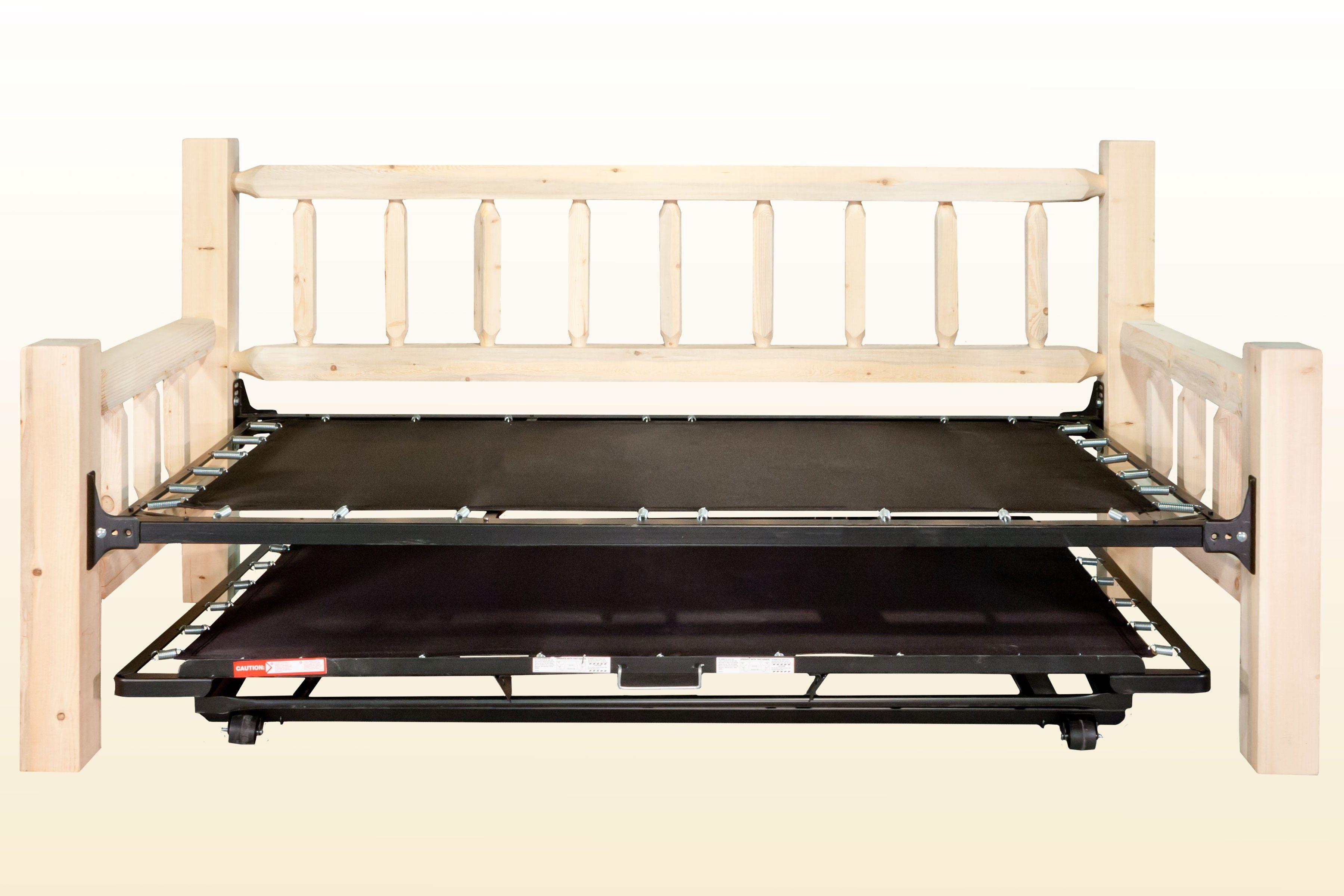 - Chic Design Of Pop Up Trundle Bed Frame For Comfortable Bedroom