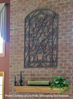 Iron window wall decor