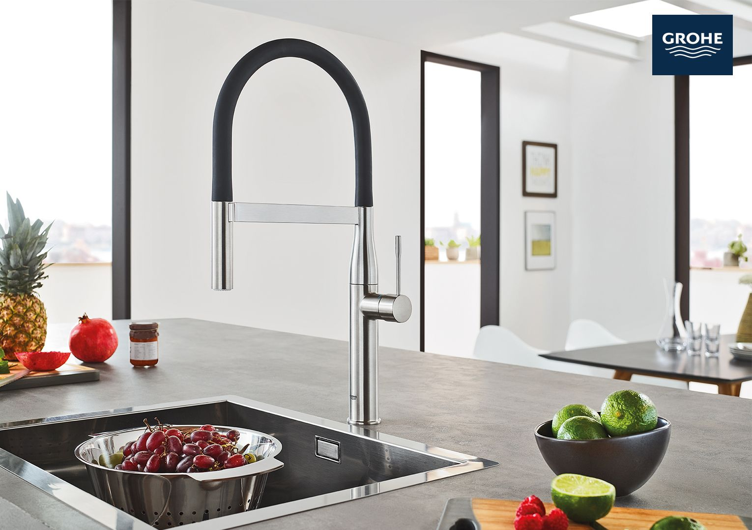 The New GROHE Essence Semi Pro Kitchen Faucet Has Modern Design And Color  Options To