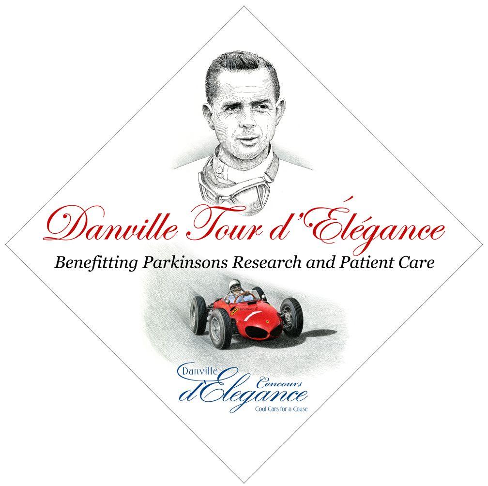 Phil Hill with Sharknose 2011 Danville Tour d'Élégance vehicle sticker.