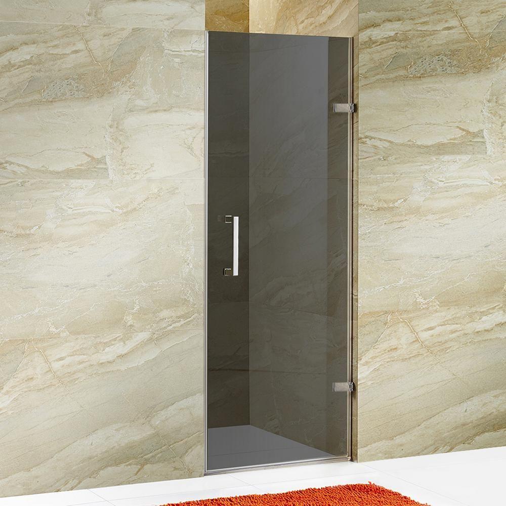 Vigo Soho 28 To 28 1 2 In X 70 625 In Frameless Hinged Shower