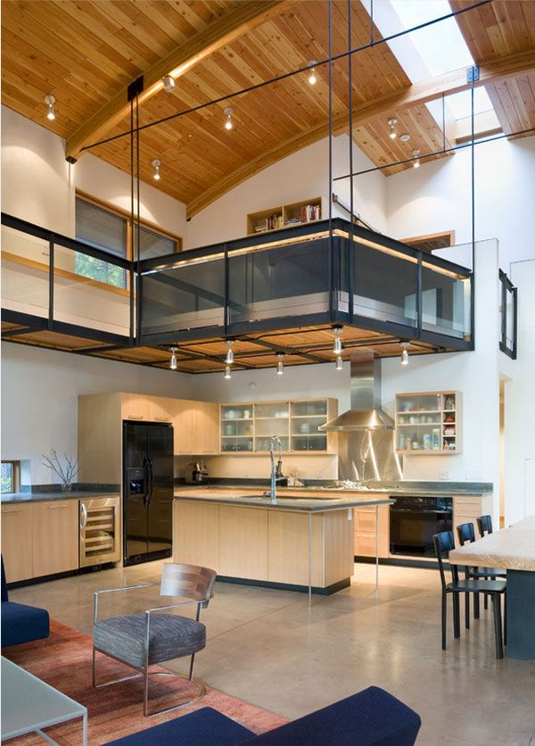 15 of the Most Incredible Kitchens Under a Mezzanine | Mezzanine ...
