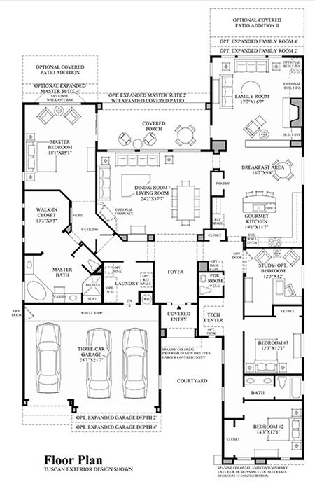 Monteloma At Windgate Ranch Scottsdale Desert Willow Collection Luxury New Homes In Scottsdale House Layout Plans Home Design Floor Plans Dream House Plans