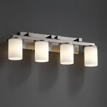 Justice Design Group Dakota 4 Light Straight Bar Bathroom Fixture From The Fusion Collection
