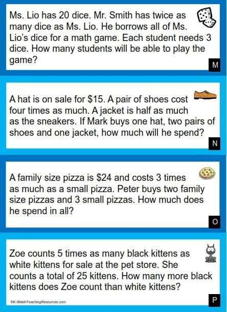 free download 4th grade multiplicative comparison word problems math projects math word. Black Bedroom Furniture Sets. Home Design Ideas
