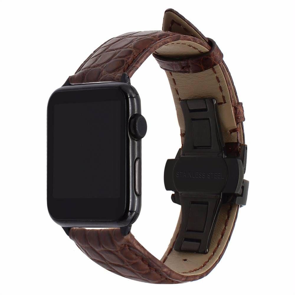 Beautiful Genuine Crocodile Leather Apple Watch Band
