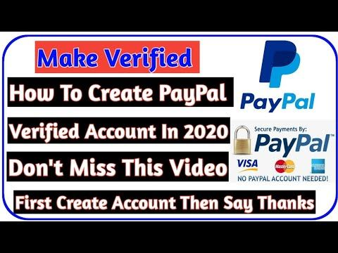 Ho To Create PAYPAL Account For Business    How To Create PAYPAL Verified Account In 2020
