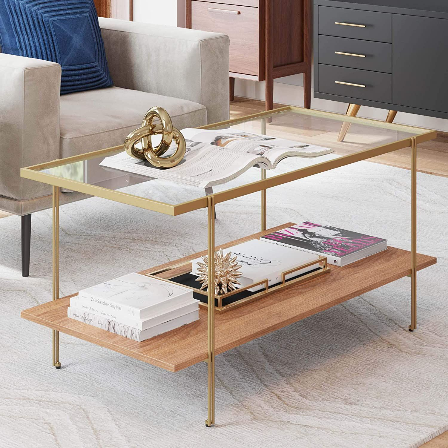 Coffee Table Glass Top Coffee Table Coffee Table Rectangle Coffee Table With Storage [ jpg ]