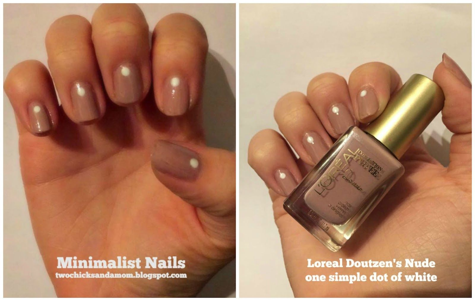A quick and simple nail style.  We used  a nude polish, let dry and then used a styling tool (okay, who am I kidding--we used an ...