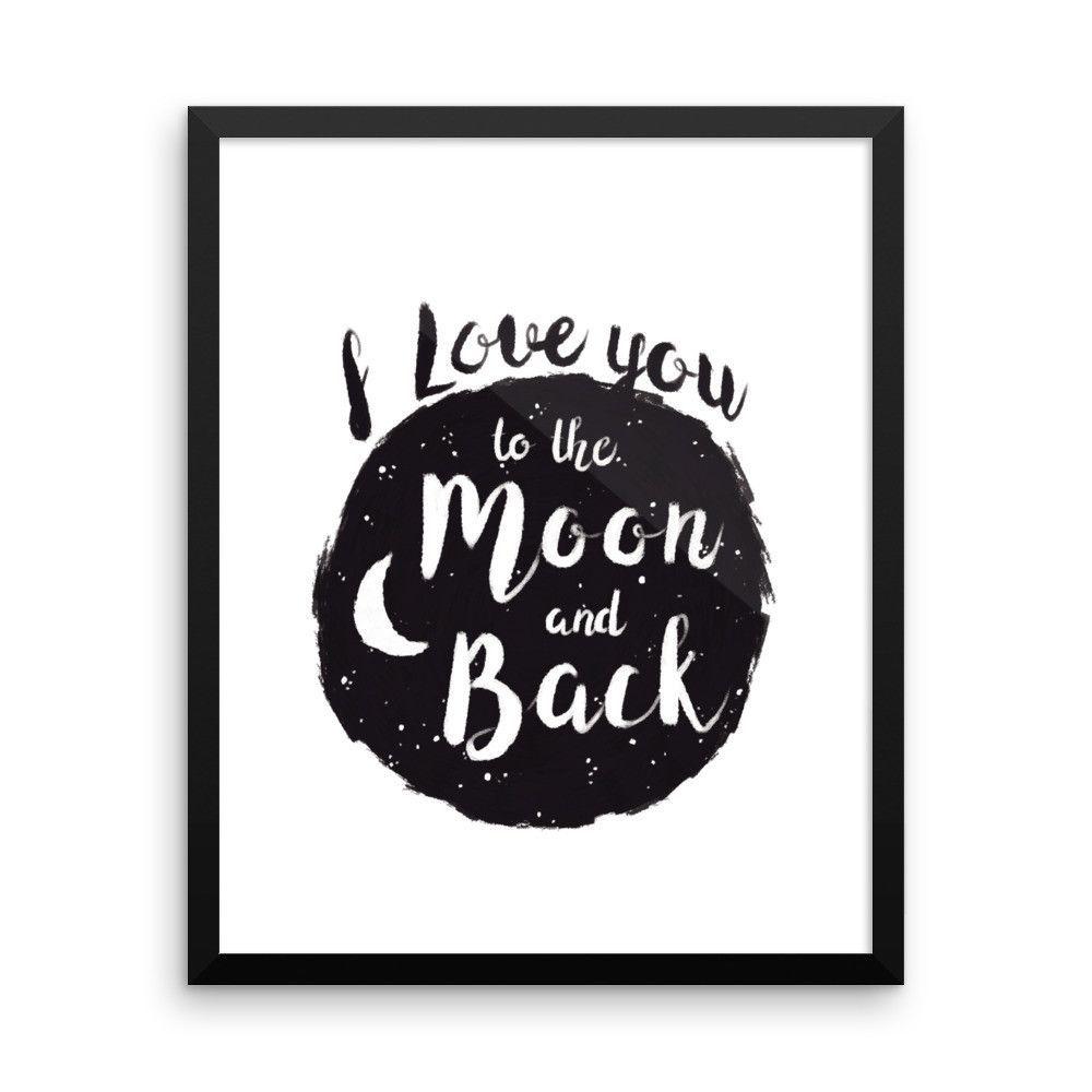 I Love You to the Moon and Back Framed Nursery Print