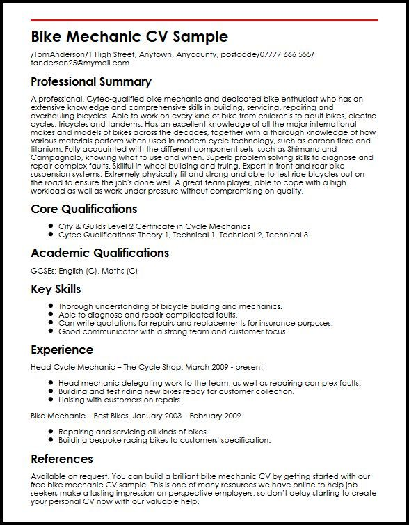 aircraft mechanic resume  job resume template sample