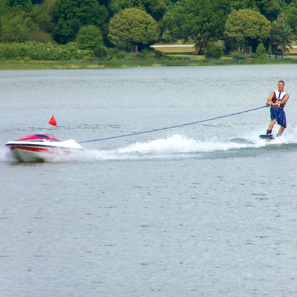 The Skier Controlled Tow Boat Hammacher Schlemmer Tow Boat Boat Water Skiing