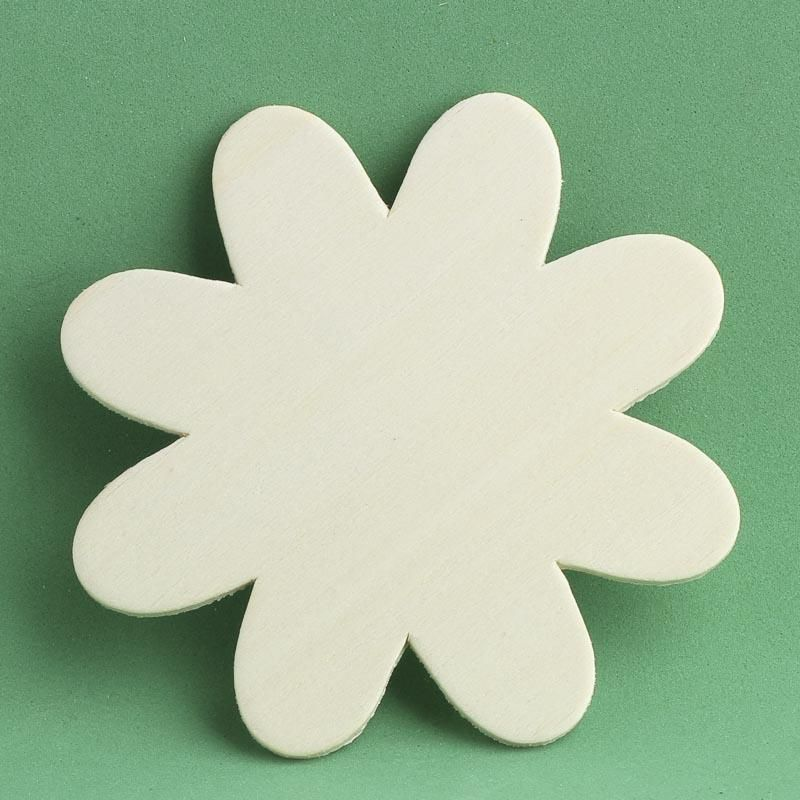 Unfinished Wooden Flower Cutout Wooden Flowers Wood Cutouts