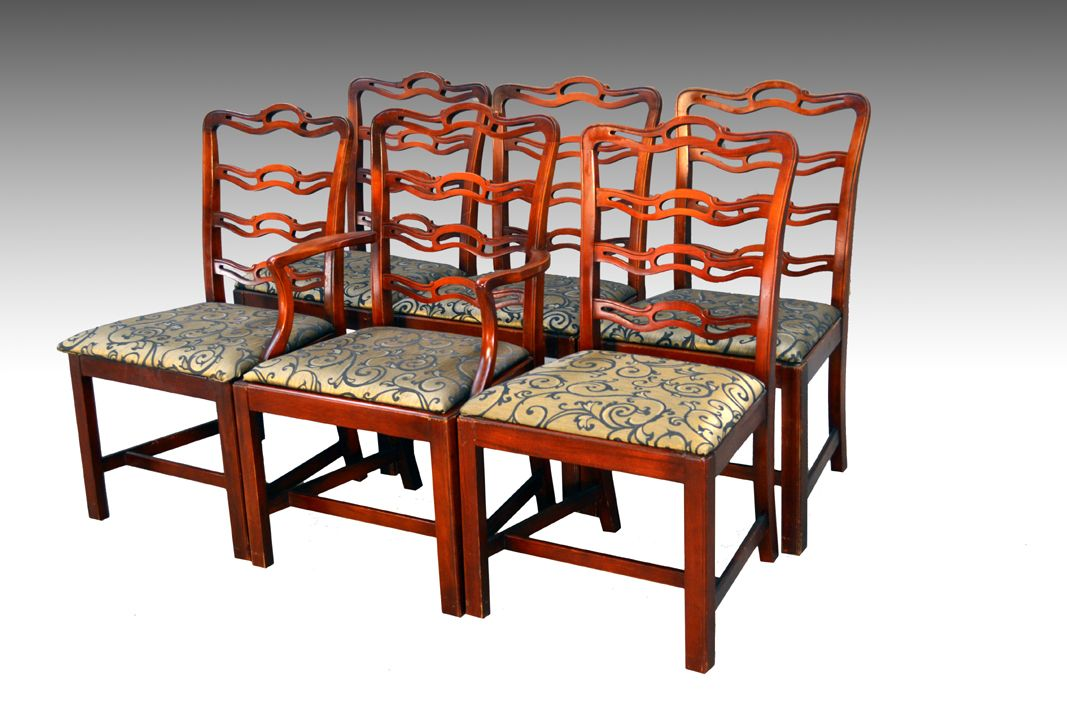 Sold Set Of Six Ribbon Back Dining Chairs Dining Chairs Vintage Dining Chairs Antique Dining Room Furniture
