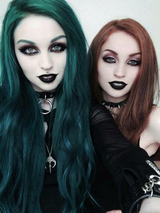 gotischen gothic beauty pinterest bunte haare haar. Black Bedroom Furniture Sets. Home Design Ideas