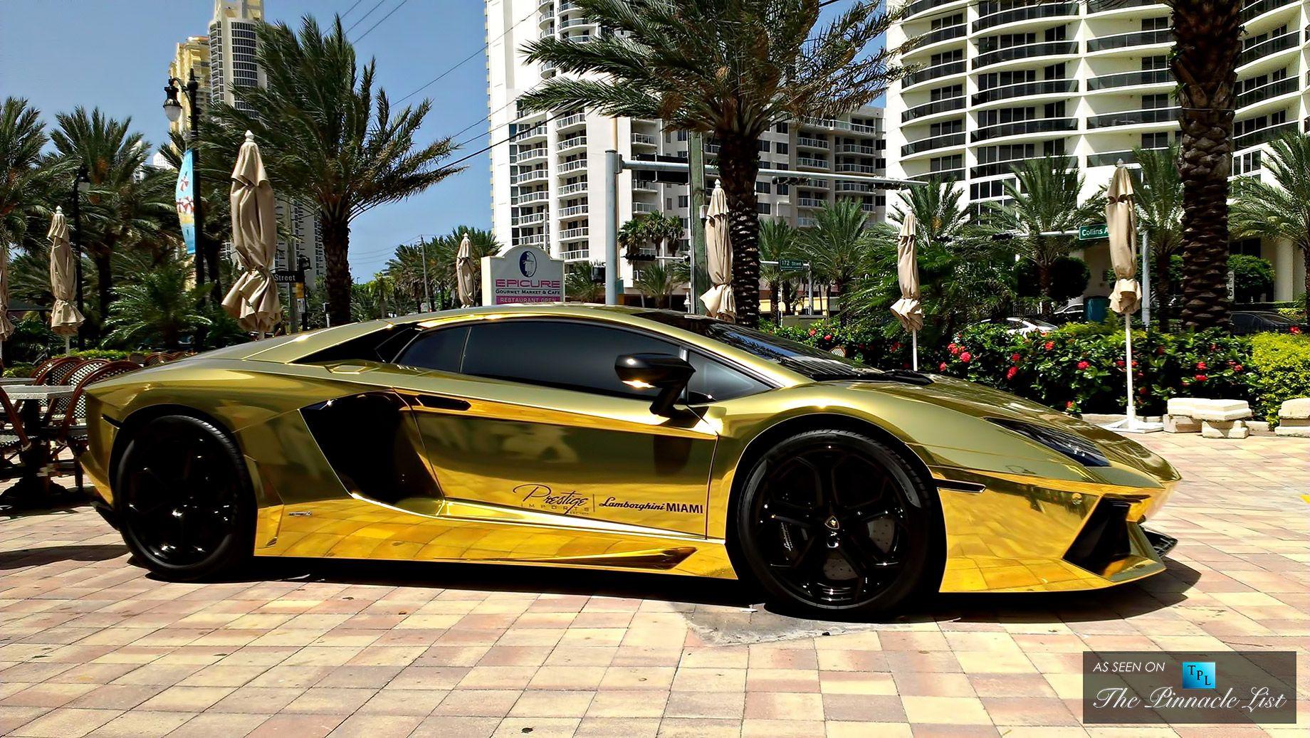 The Top Five Most Uber Expensive Luxury Supercars In The World Lamborghini Aventador Lamborghini Veneno Gold Lamborghini
