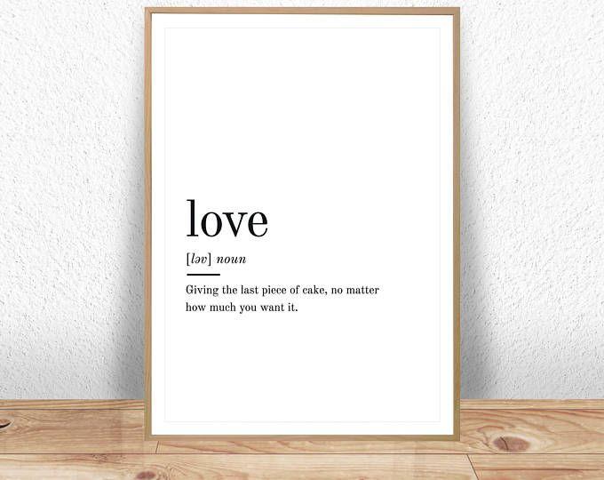 Love Definition Love Wall Art Printable Definitions Love Etsy Quote Prints Printable Quotes Large Wall Prints