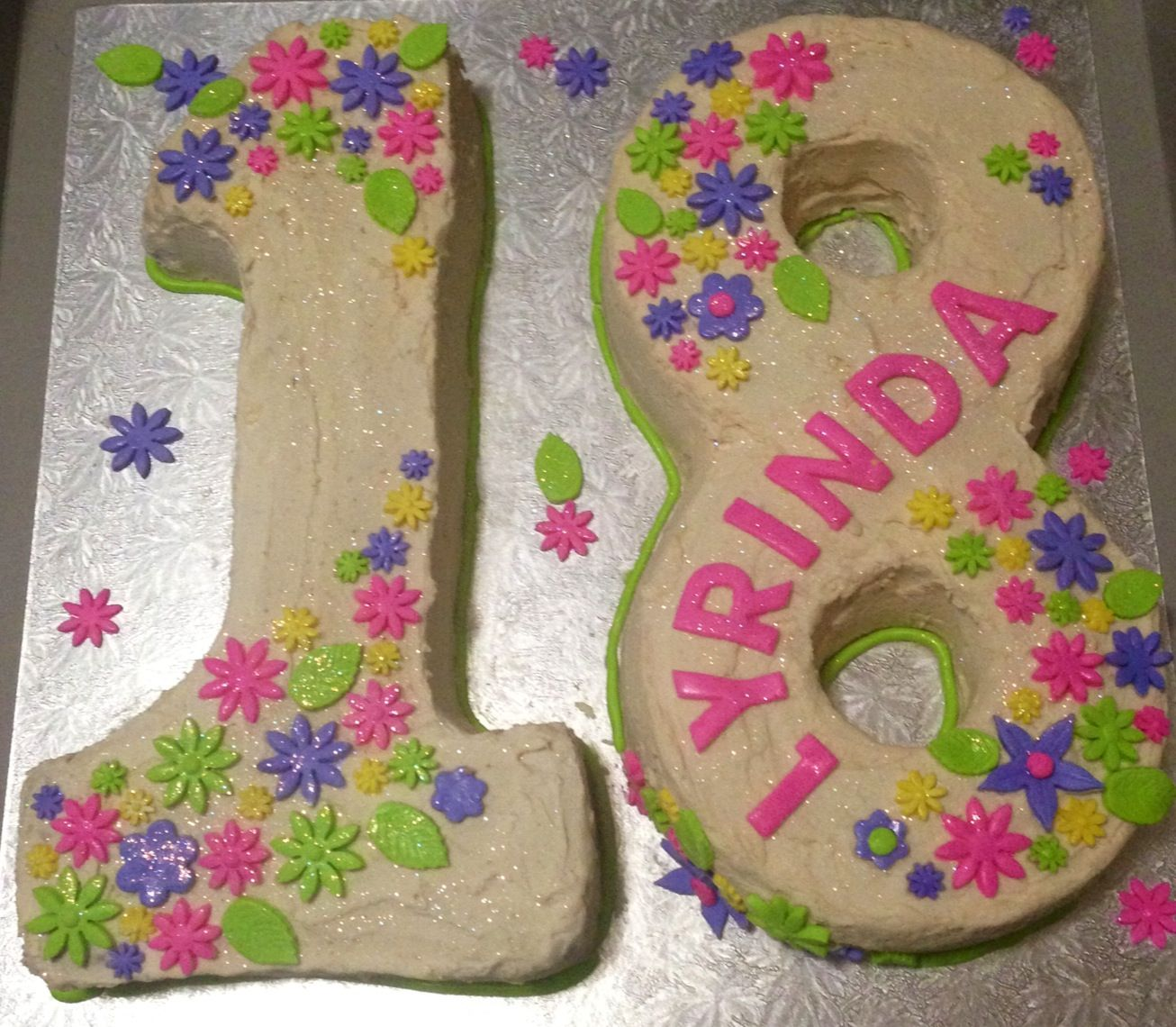 Birthday cake for a 18 year old girl Cakes Pinterest
