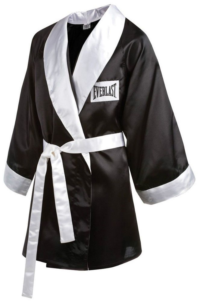 09558752f0 Everlast Stock 3 4 Length No Hood Boxing Robe - XL - Black White  Everlast
