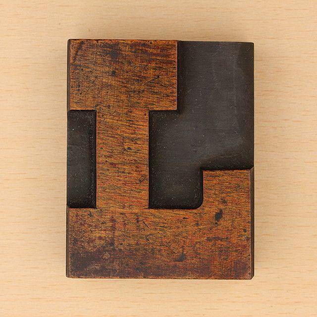 wood type letter L by Leo Reynolds, via Flickr