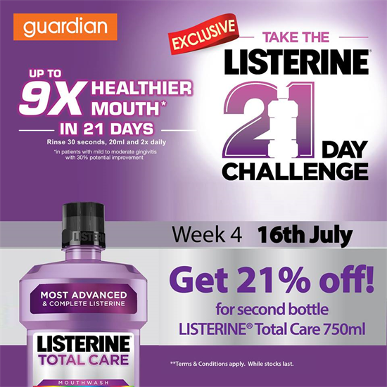 Listerine 21 day challenge sweepstakes definition