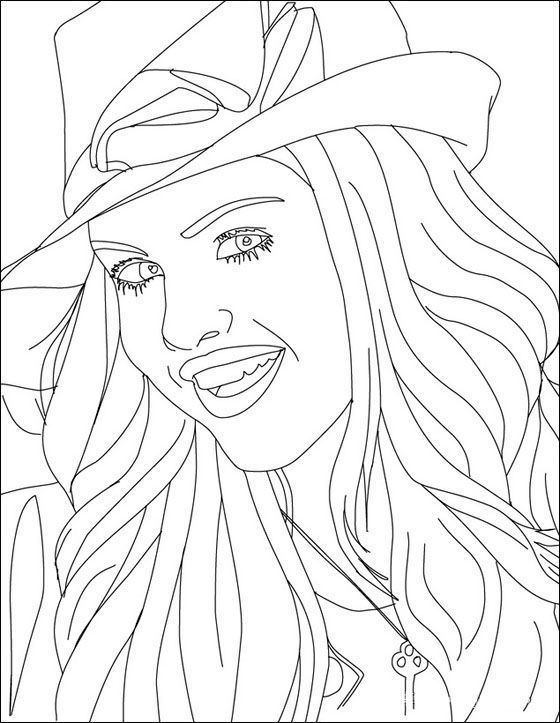 Selena Gomez People Coloring Pages Sketches Coloring Pictures