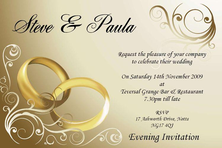 20 Best Free Printable Wedding Invitation Templates Engagement Invitation Cards Personalised Wedding Invitations Wedding Invitation Layout