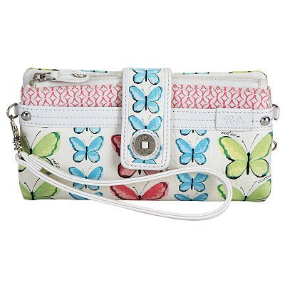 Relic® Lily Butterfly Checkbook Wristlet
