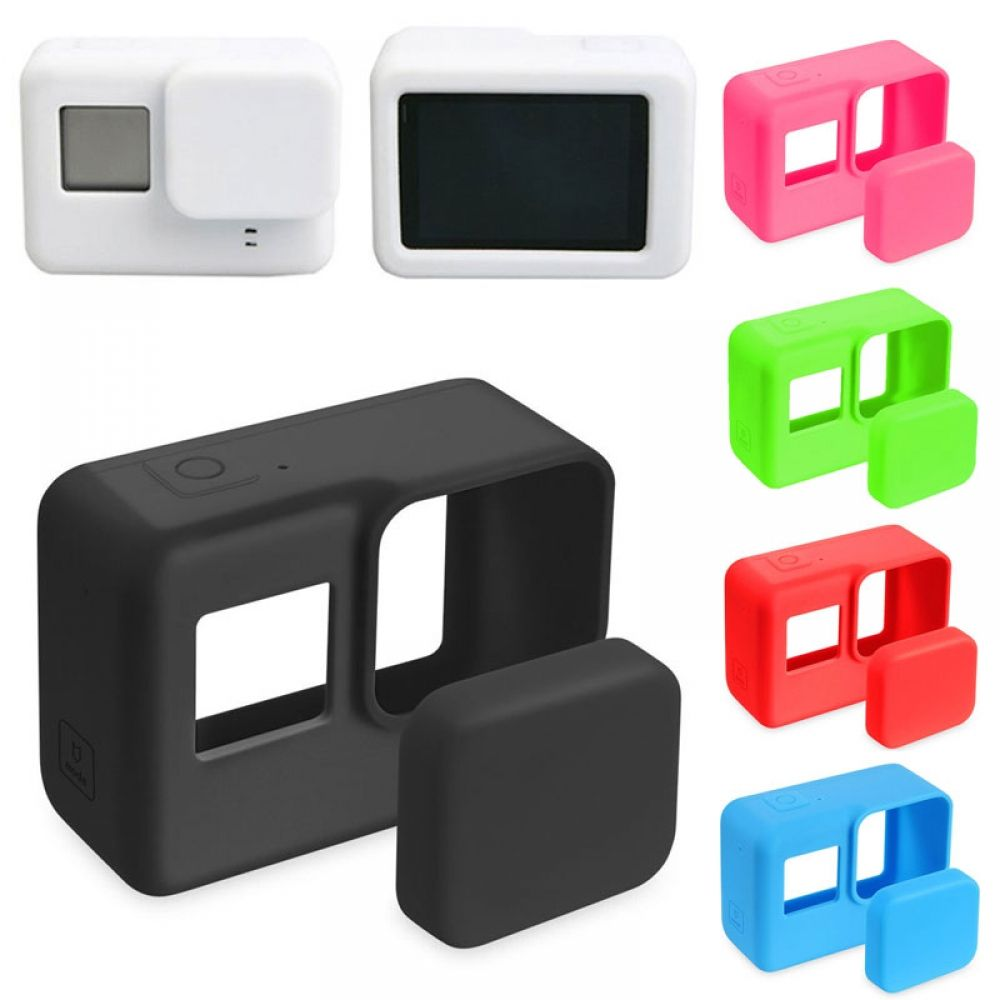 Lens Cap Cover For GoPro 5//6 New Colorful Silicone Housing Case Protective