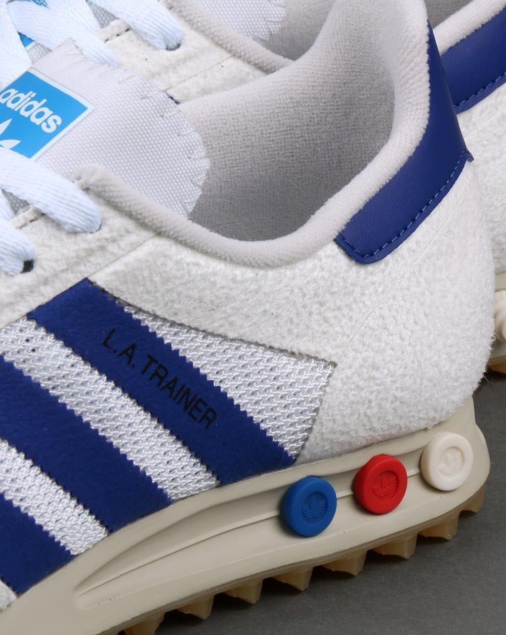 adidas la trainer white blue