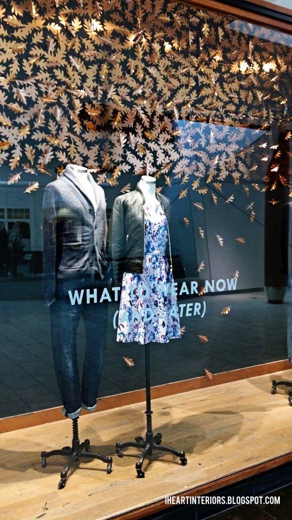 I Heart Interiors: J. Crew :: Fall Window Display